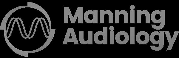 Orange logo for manning audiology